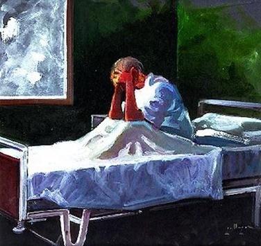 ENFERMO en cama