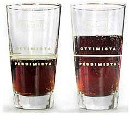Optimistic vs pessimistic glass