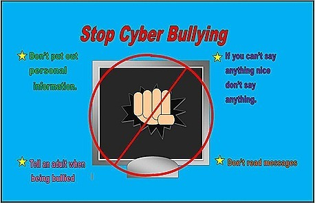 Stop Cyber Bullying - Blue