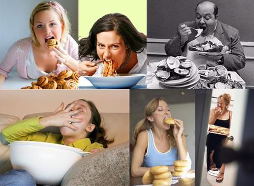 atracón de comida
