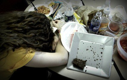 culpa atracón comida