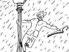 """Test """"Persona bajo la lluvia"""""""